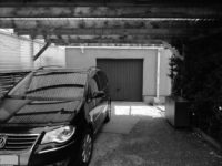Carport Blick Garage