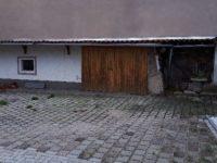 Blick zur Garage