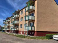 Ansicht des MFH mit Balkonen