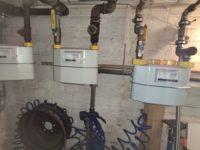 Gasanschlüsse im Keller